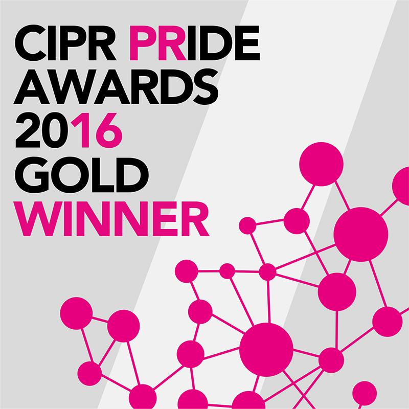 PRide Awards Gold winner
