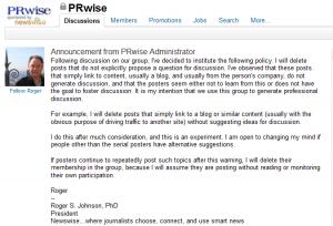 LinkedIn PR Wise