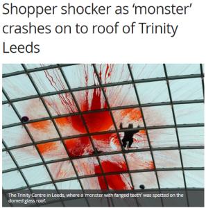 Trinity Leeds Halloween stunt