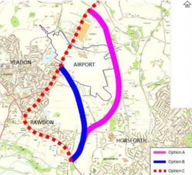 Leeds City Council: three link road options