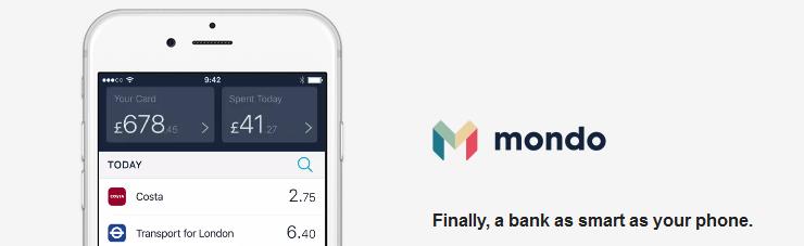 Mondo mobile banking
